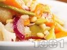 Рецепта Вегетарианска салата с карфиол, тиква и зелен фасул